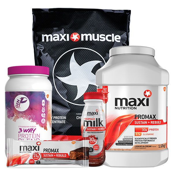MaxiNutrition Protein Range: Shakes, Powders & Bars