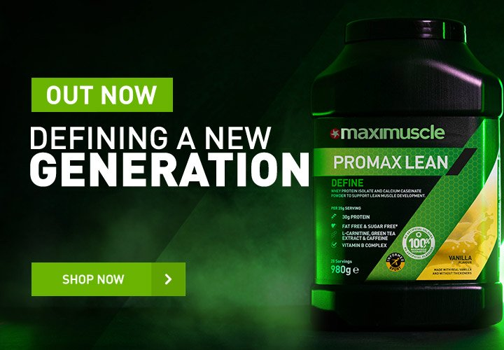 Maximuscle Promax Lean Defining a New Generation - Shop Now