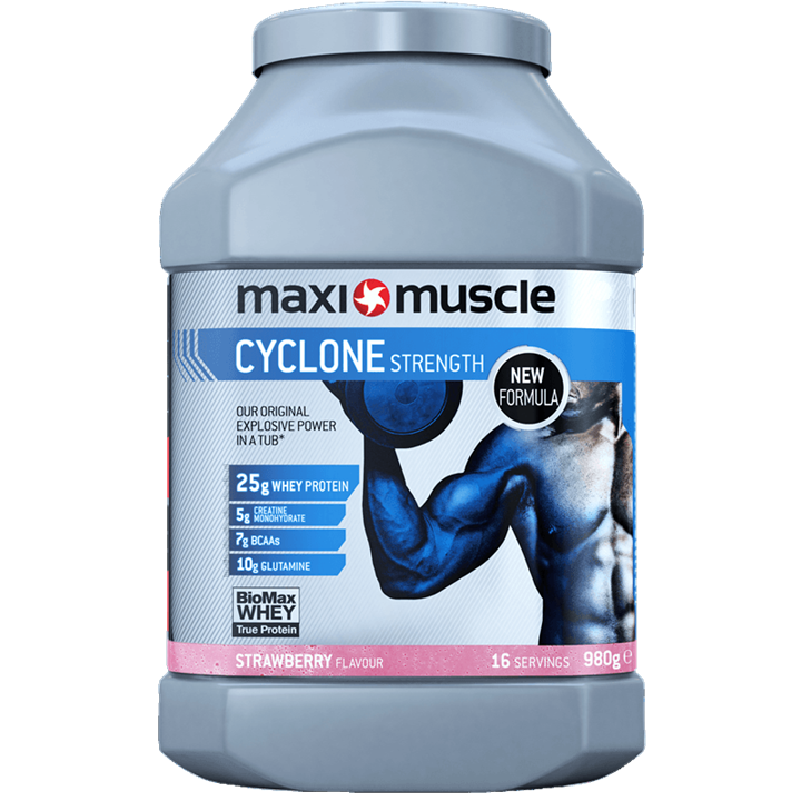 Maximuscle Cyclone Protein Powder 980g Tub - Strawberry