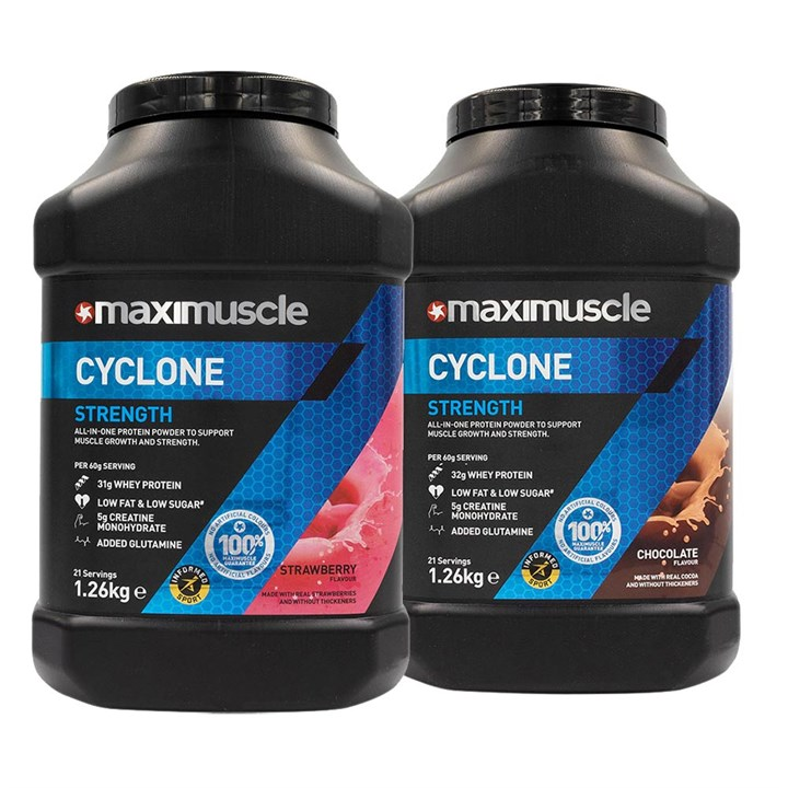 Maximuscle Cyclone Twin Pack 2 x 1.26kg Tubs Bundle