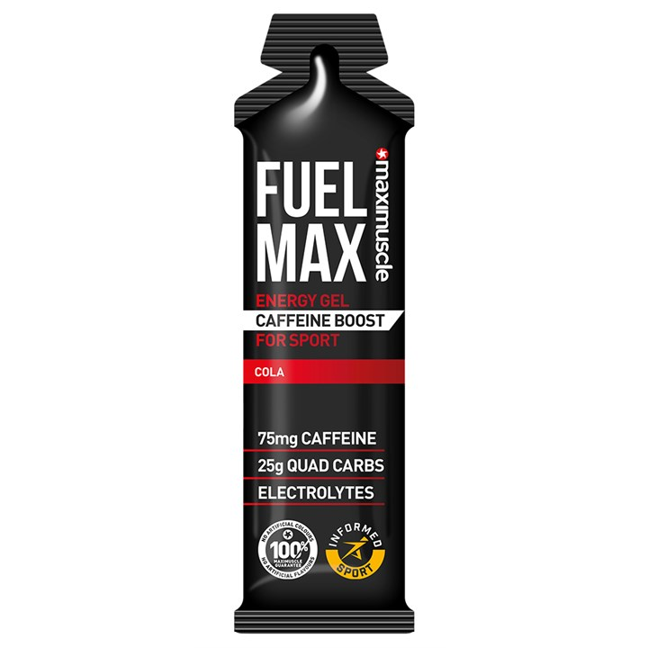 Maximuscle Fuel Max Caffeine Boost Energy Gels 12 x 70g Cola (BBE 28/02/21)
