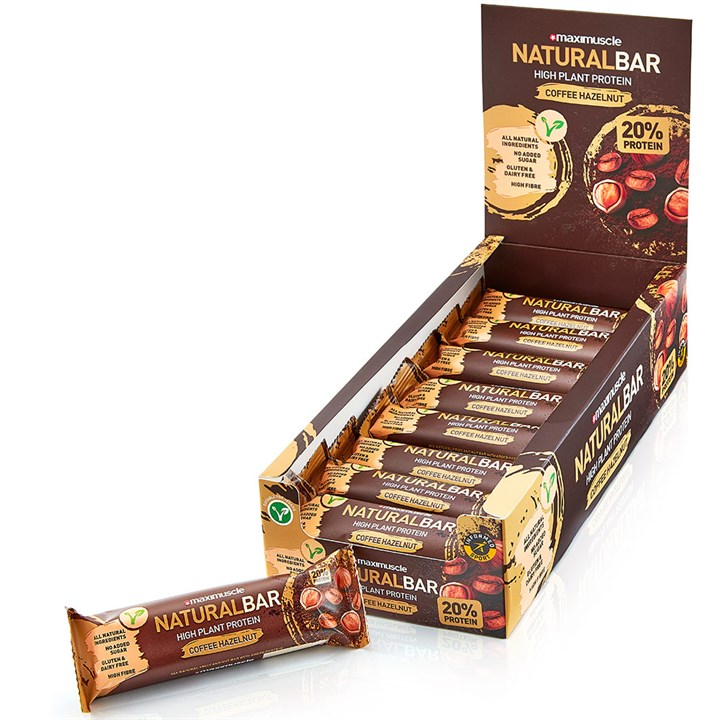 Maximuscle Natural Bars 18 x 40g - Coffee Hazelnut