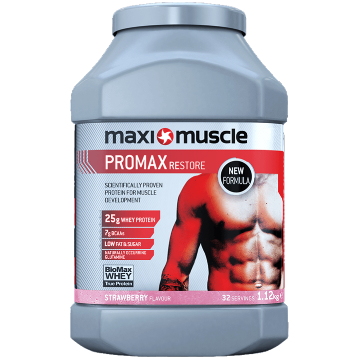 Maximuscle Promax Protein Powder 1.12kg Tub - Strawberry