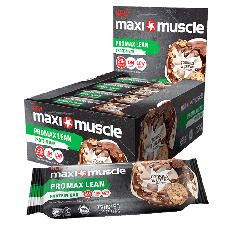Maximuscle Promax Lean Protein Bars 12 x 55g - Cookies and Cream
