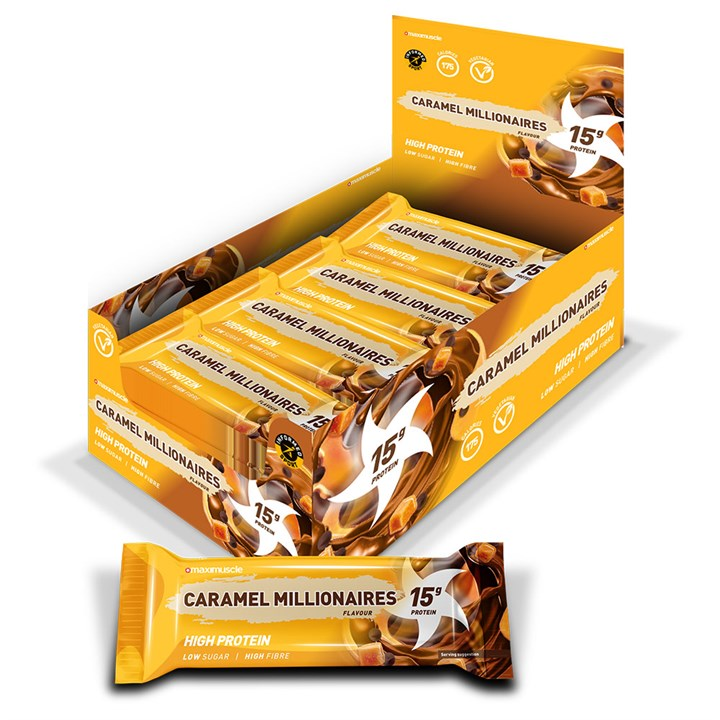 Maximuscle Protein Bars 12 x 45g - Caramel Millionaires
