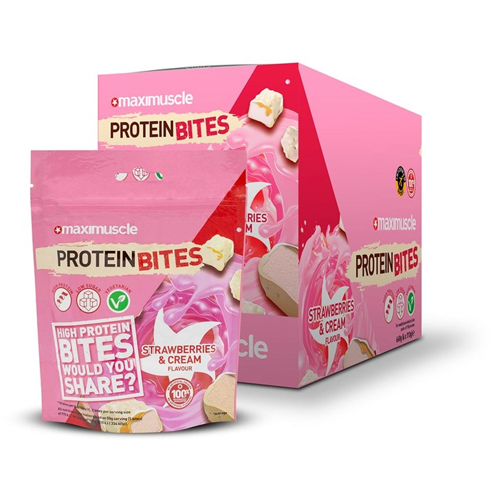 Maximuscle Protein Bites 6 x 110g - Strawberries and Cream