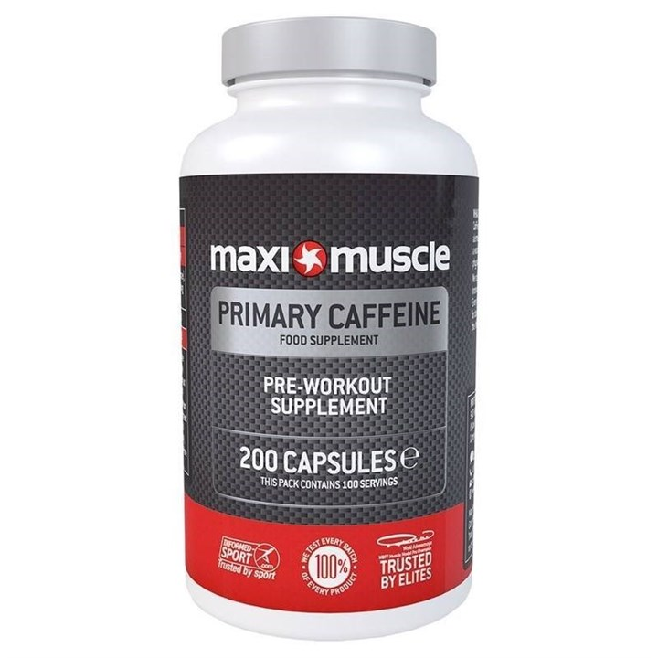 Maximuscle Primary Caffeine Pre-Workout Supplement Capsules - 200 Pack