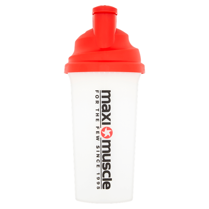 Maximuscle Screw Cap Protein Shaker 700ml - Red and Clear