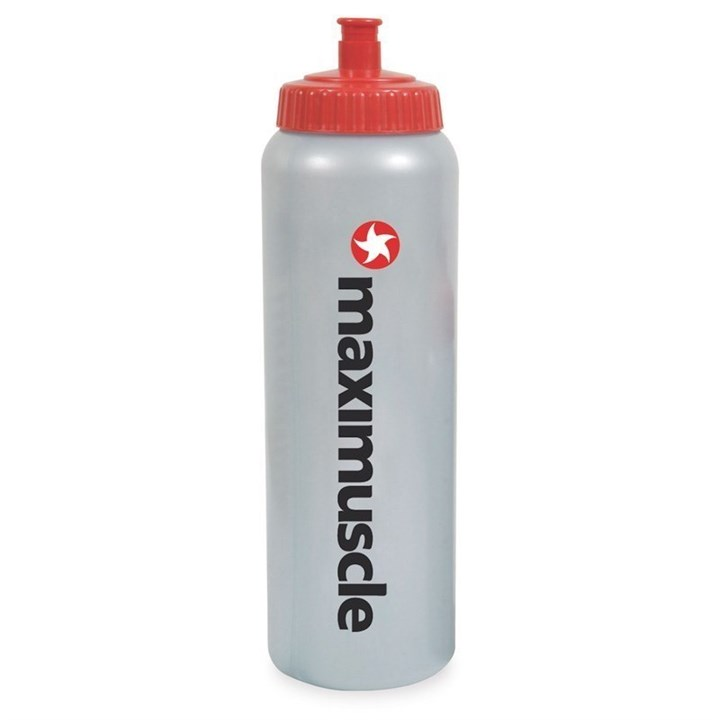 Maximuscle Screw Cap Sports Water Bottle 1 Litre - Grey