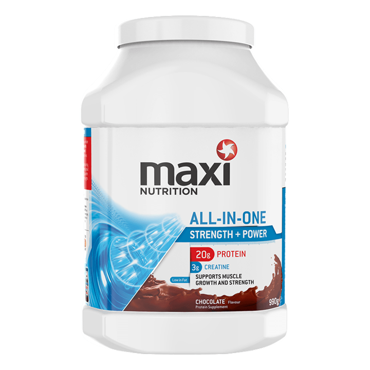 MaxiNutrition All-in-One Protein Powder 990g Tub - Chocolate