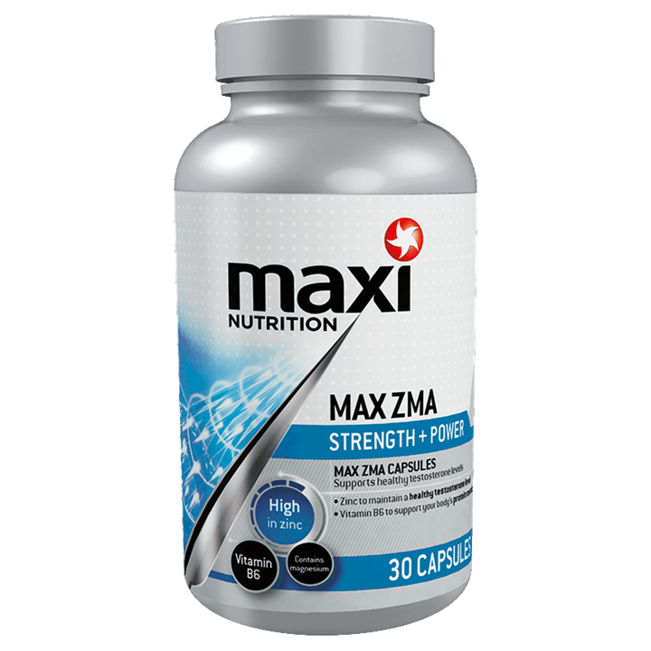 Maximuscle Max ZMA Zinc and Vitamin Supplement Capsules - 30 Pack