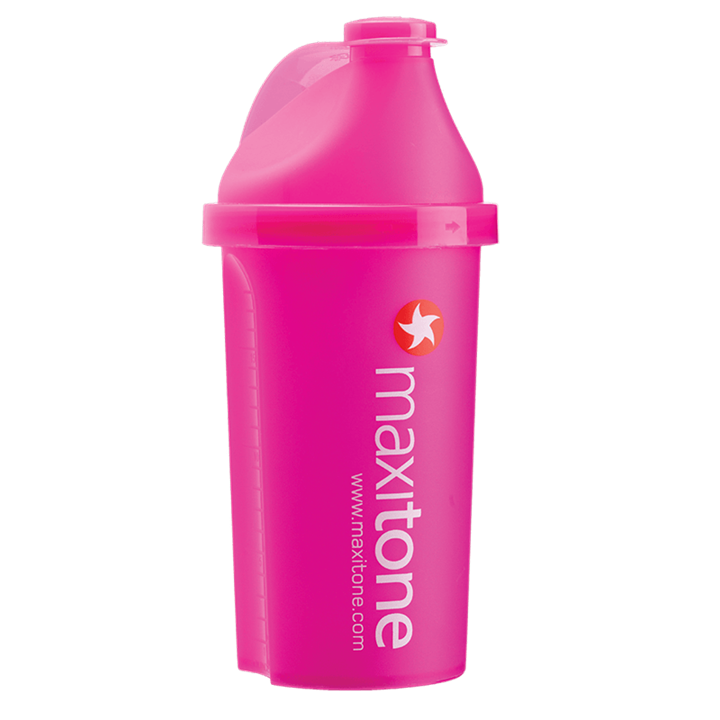 Gen-P Screw Cap Protein Shaker 500ml - Electric Pink
