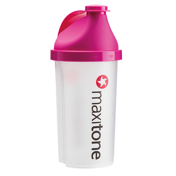 MaxiNutrition Screw Cap Protein Shaker 500ml - Electric Pink and Clear