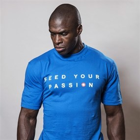 Feed Your Passion T-Shirt X Large - Blue