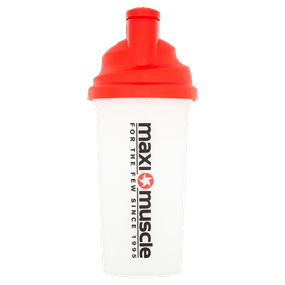 Screw Cap Protein Shaker 700ml - Red and Clear