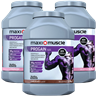 3 x Maximuscle Progain Protein Powder 1.4kg Tubs