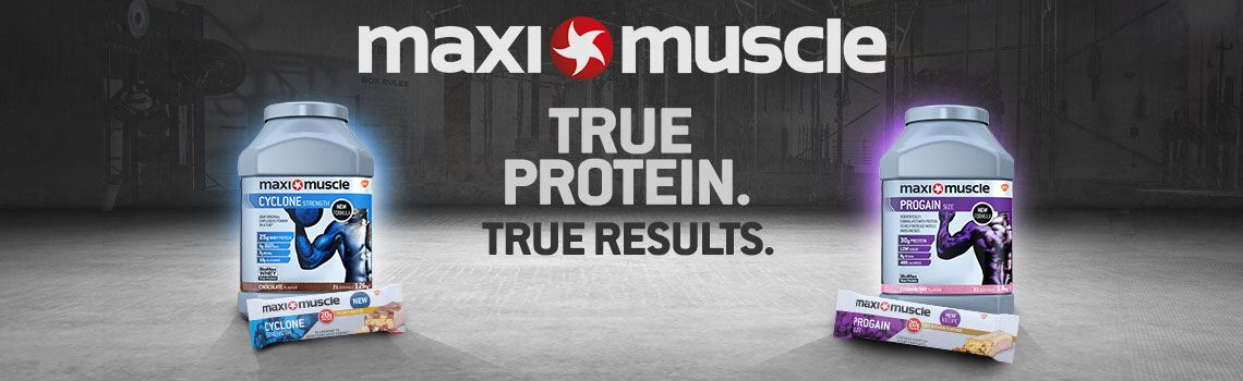 Maximuscle - True Protein. True Results