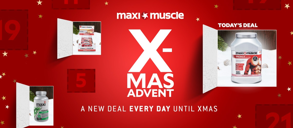 New deal added daily | Maximuscle Christmas Advent